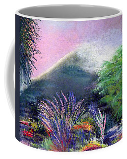 Coffee Mug featuring the painting Croagh Patrick by Alys Caviness-Gober