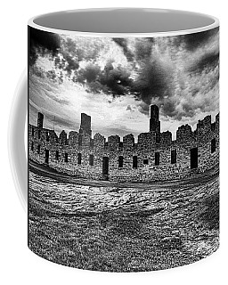 Crown Point Barracks Black And White Coffee Mug