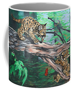 Cubs At Play Coffee Mug by Wendy Shoults