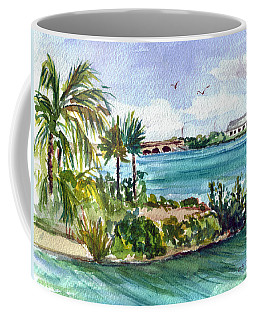 Coffee Mug featuring the painting Cudjoe Key Bridge by Clara Sue Beym