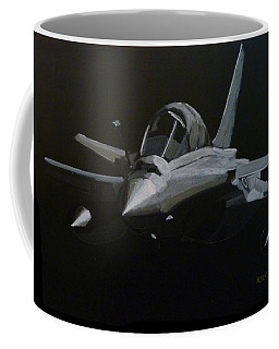 Coffee Mug featuring the painting Dassault Rafale by Richard Le Page