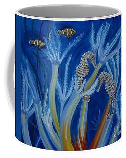 Coffee Mug featuring the painting Date Night On The Reef by Julie Brugh Riffey