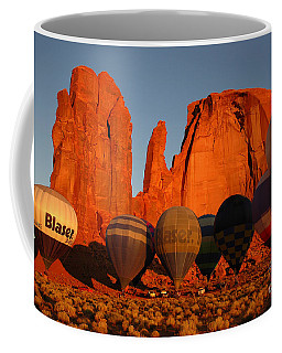 Coffee Mug featuring the photograph Dawn Flight In Monument Valley by Vivian Christopher