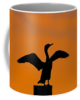 Dawn Of A Double-crested Cormorant  Coffee Mug