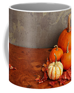 Coffee Mug featuring the photograph Decorative Fall Pumpkins by Verena Matthew