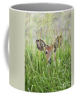 Deer In Hiding Coffee Mug by Art Whitton
