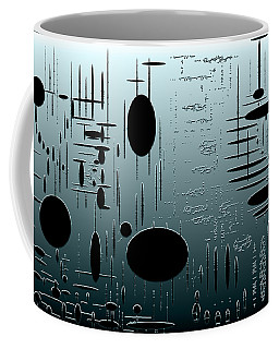 Digital Dimension In Aquamarine Series Image 1 Coffee Mug