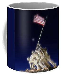 Digital Lightening - Iwo Jima Memorial Coffee Mug