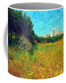Coffee Mug featuring the photograph Do-00479 Bois Des Pins - Impressionist by Digital Oil
