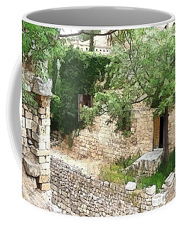 Coffee Mug featuring the photograph Do-00486 Old House From Citadel by Digital Oil