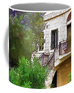 Coffee Mug featuring the photograph Do-00490 Balcony Of Old House by Digital Oil