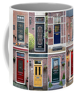 Coffee Mug featuring the photograph Door Background by Ariadna De Raadt