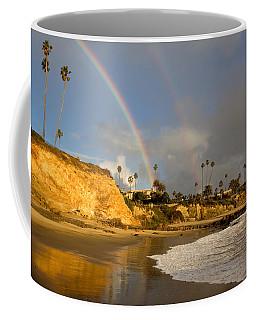 Double Raibow Over Laguna Beach Coffee Mug