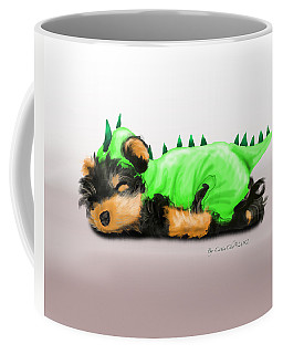 Dragon Baby Yorkie Coffee Mug by Catia Cho