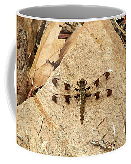 Coffee Mug featuring the photograph Dragonfly At Rest by Deniece Platt
