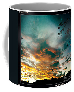 Coffee Mug featuring the photograph Drama In The Sky by Nina Prommer