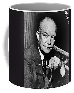 Coffee Mug featuring the photograph Dwight D Eisenhower - President Of The United States Of America by International  Images