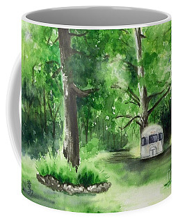 Coffee Mug featuring the painting Early Summer At The Geddes Farm --ann Arbor Michigan by Yoshiko Mishina