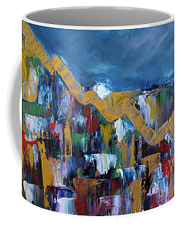 Coffee Mug featuring the painting Economic Meltdown by Judith Rhue