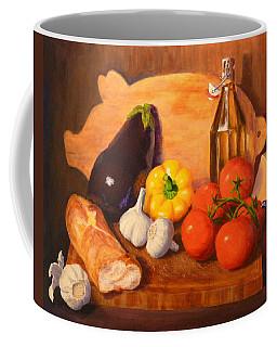 Coffee Mug featuring the painting Eggplant Parmigiana by Joe Bergholm