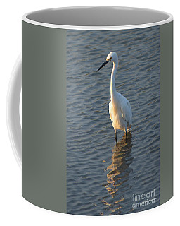 Egret In Marsh Coffee Mug