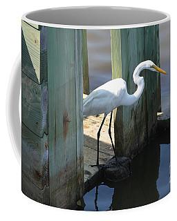 Egret On Rice Trunk Coffee Mug