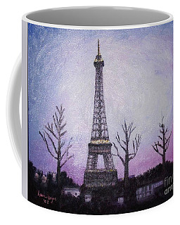 Eiffel At Night Coffee Mug