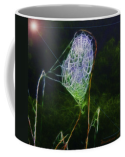 Electric Web In The Fog Coffee Mug by EricaMaxine  Price