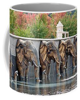 Elephants Of The Mandir Coffee Mug