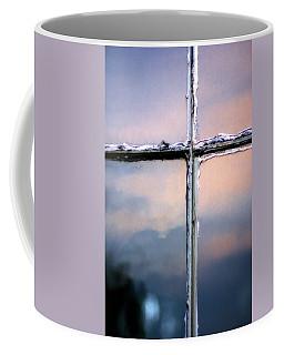 Empty Cross On The Window Of An Old Church Coffee Mug