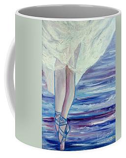 Coffee Mug featuring the painting En Pointe by Julie Brugh Riffey