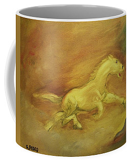Coffee Mug featuring the painting Escaping The Flames by George Pedro