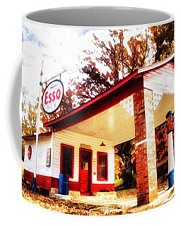 Coffee Mug featuring the painting Esso Filling Station by Lynne Jenkins