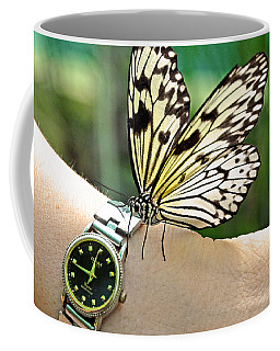 Excuse Me What Time Is It Now Coffee Mug by Jenny Rainbow