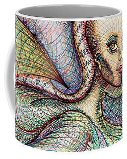 Coffee Mug featuring the drawing Exposed by Danielle R T Haney