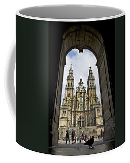 Exterior View Of A Gothic Cathedrals Coffee Mug