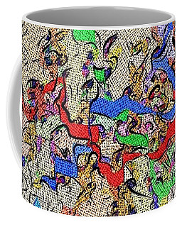 Coffee Mug featuring the digital art Fabric Of Life by Alec Drake