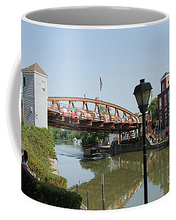 Coffee Mug featuring the photograph Fairport Lift Bridge by William Norton
