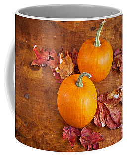Coffee Mug featuring the photograph Fall Decorative Pumpkins by Verena Matthew