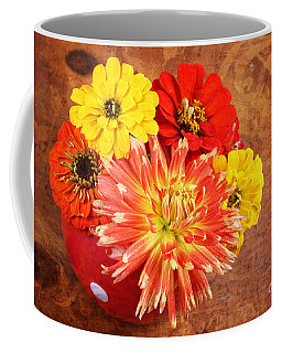 Coffee Mug featuring the photograph Fall Flower Arrangement by Verena Matthew