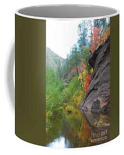 Fall Peeks From Behind The Rocks Coffee Mug by Heather Kirk