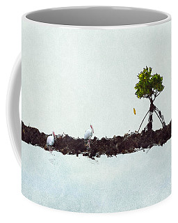 Falling Mangrove Leaf Coffee Mug by Dan Friend