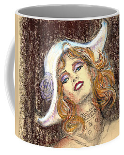 Coffee Mug featuring the drawing Fashion Drawing by Sue Halstenberg