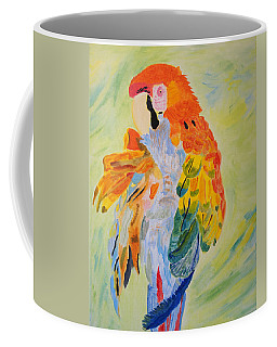 Feathers Showing God's Painting Coffee Mug by Meryl Goudey