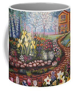 Coffee Mug featuring the painting Feller's Dream by Lynn Buettner