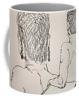 Female Nude Beside Herself Coffee Mug