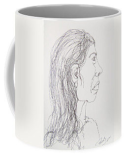 Female Portrait On Bus Coffee Mug