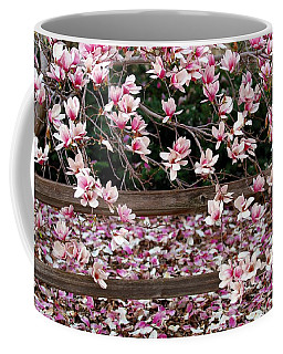 Coffee Mug featuring the photograph Fence Of Flowers by Elizabeth Winter