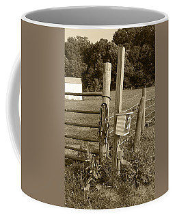 Coffee Mug featuring the photograph Fence Post by Jennifer Ancker