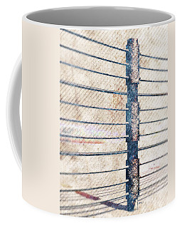 Coffee Mug featuring the digital art Fence Post by Phil Perkins